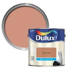 Dulux Standard Copper Blush Paint 2.5L | Departments | DIY at B&Q