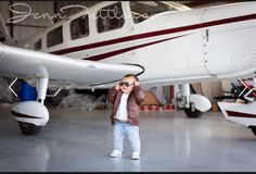 Airplane Photo Shoot Baby Photography Toddler Family Hangar