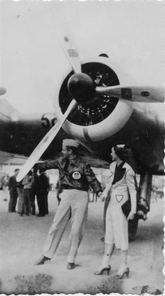 Clark Gable and Myrna Loy in Langley Field, VA, 57th Fighter Group