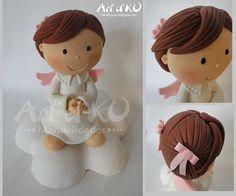 angelita bautizo,angel pasta flexible