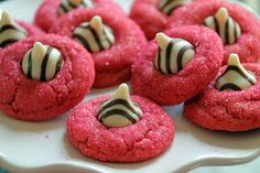 Life Is Sweets: Peanut Butter Kiss Cookies: Prettier in Pink! I'm making these semi low carb/cal.