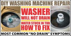how to fix a washing machine that will not drain