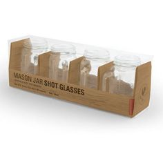 Mason Jar Shot Glasses (set of 4) at The Paper Store