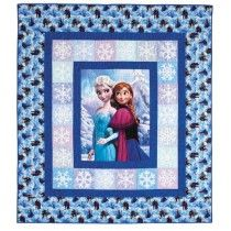 To celebrate the second movie for Disney's Frozen, I think I must make this quilt.  Sisterly Love Quilt Kit