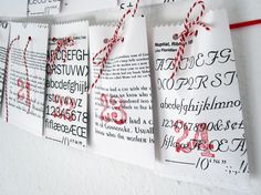 The advent calendar consists of 24 paper bags - 24 surprises not only for lovers of letters and typographers.    The bags are made from solid paper...