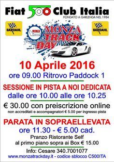 Le 500 in pista a Monza il 10 aprile 2016!