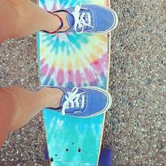 Can I have those shoes? And the board wouldn't be so bad either! :)