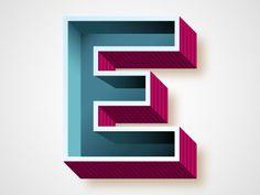 Letter E #typography #lettere