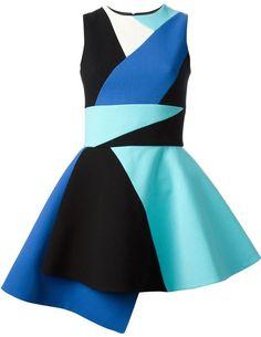 Fausto Puglisi colour block skater dress