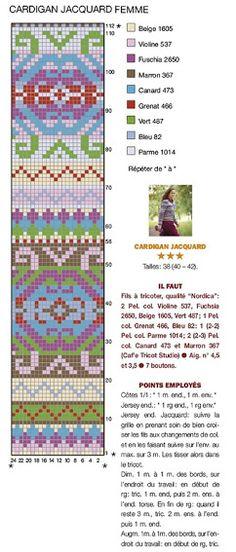 Cardigan fair isle 2/2 chart