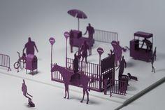 1/100建築模型用添景セット No.6 ニューヨーク編 - TERADA MOKEI