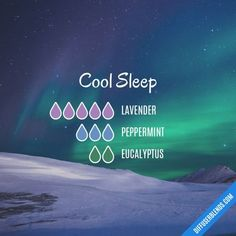 Cool Sleep - Essential Oil Diffuser Blend #aromatherapysleepdiffuser