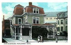 New London Connecticut CT 1920s Elks' Clubhouse Antique Vintage Postcard