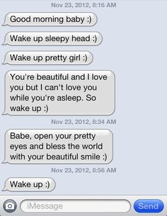 These are the cuuuutest goodmorning texts, boy knows what he's doing!