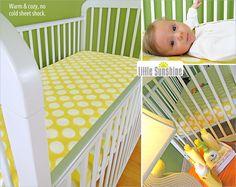 Little Sunshine Fleece Fitted Crib Sheet | Sew4Home