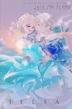 Jelsa with a Capital J — legendary-fangirl: Artist:. Jack Y Elsa, Jack Frost And Elsa, Jelsa, Disney Fan Art, Disney Love, Frozen Love, Frozen Art, Disney Kunst, Disney Frozen Elsa