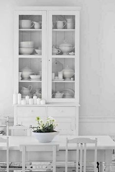 Sleek crockery cabinet