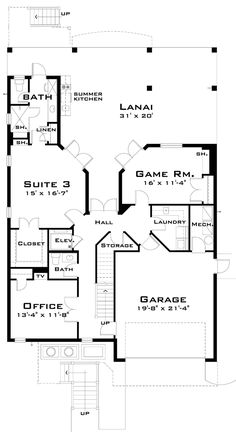 Florida House Plan chp-33877 at COOLhouseplans.com