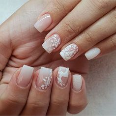 52 Trending Winter Nail Colors & Design Ideas - Hair and Beauty eye makeup Ideas To Try - Nail Art Design Ideas Xmas Nail Art, Xmas Nails, Winter Nail Art, Winter Nails, Christmas Nails, Colorful Nail Designs, Nail Art Designs, Toe Nails, Pink Nails