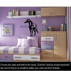 Personalized Vinyl Horse Decal Pony Wall Decor 23 X 28 inches - Wall Decor Stickers - Amazon.com