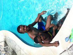 My son and grandson