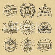 Grunge Hipster Retro Design Insignias Logotypes Set 12. royalty-free stock vector art