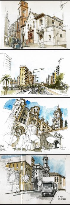 Amazing Sketch | Luis Ruiz Padrón #travel #journal #watercolor
