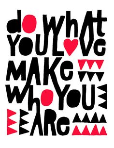 Do What You Love Print  Large Size por lisacongdon en Etsy