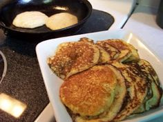 Low Carb Breakfast - Ricotta Pancakes Going to try these with the Almond flour substituted for the soy flour!