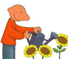 "Welkom in ons kleuterklasje! : Thema: ""Lente en zaaien!"" Plantar, In Kindergarten, Tigger, Flower Power, Winnie The Pooh, Vector Free, Disney Characters, Fictional Characters, Clip Art"
