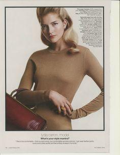 October 2014 Lucky Magazine, October 2014, Turtle Neck, Sweaters, Fashion, Moda, Fashion Styles, Sweater, Fashion Illustrations