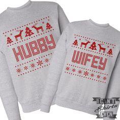 Wifey Hubby Ugly Christmas Sweaters