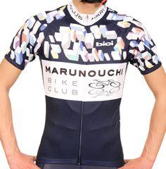 MENSレーシングジャージ【半袖】マルノウチバイククラブ ネイビー - bici -サイクルウェア,サイクルジャージ-