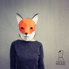 You can make your own fox mask! Printable DIY template (PDF) contains 5 pages. Use 160-240 g/m2 colored paper. The template should be printed on A3 paper format (fit)!!! Check out our tutorials on youtube.com/channel/UCTO0rWB3sQv161fWv0yG79Q. More photos on