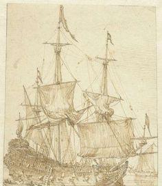 Zeilschip, anonymous, 1600 - 1699 - Rijksmuseum