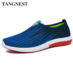 Tangnest New Summer Men Shoes 2017 Fashion Gradient Color Breathable Men Loafers Slip On Mesh Casual Flat Shoes Man XMR1746 #women, #men, #hats, #watches, #belts, #fashion