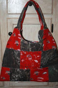 Custom Swing Sling Bag Purse ARKANSAS Razorback Fabric Patchwork MOSSY OAK CAMO | eBay