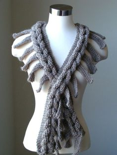 Taupe Scarf - Braided scarf - Long scarf -  Chunky Cowl - Winter accessories - Knit Scarf