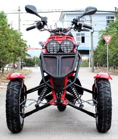 I honestly am into those things these folks did with this unique Trike Scooter, Cafe Racer Motorcycle, Motorcycle Art, Motorized Trike, Build A Go Kart, Three Wheel Bicycle, Small Tractors, Reverse Trike, Drift Trike
