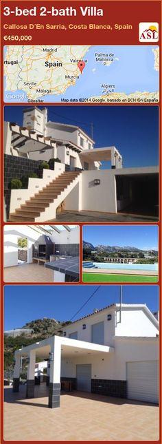 3-bed 2-bath Villa in Callosa D´En Sarria, Costa Blanca, Spain ►€450,000 #PropertyForSaleInSpain