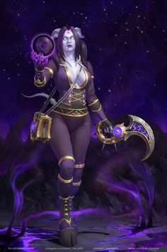 World of Warcraft Art World Of Warcraft Characters, Iconic Characters, Fantasy Characters, Female Characters, Draenei Shaman, Draenei Female, Dark Fantasy, Fantasy Art, Demon Wolf