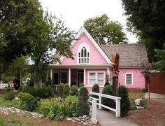 Pink House - if only hubs would let me ~ I love this design.