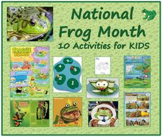 Did you know April is National Frog Month? Frogs are amazing amphibians, and they should be celebrated! Then check out these 10 frog-tastic activities you and your kids … Frog Activities, Fun Activities For Kids, Educational Activities, Science Lesson Plans, Science Resources, Science Lessons, Wildlife Day, Animal Crafts For Kids, Cute Frogs