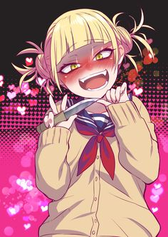 Himiko toga-my hero academia art, so Animes Yandere, Yandere Anime, Fanarts Anime, Manga Kawaii, Kawaii Anime Girl, Anime Art Girl, Otaku Anime, Chica Anime Manga, Photo Manga