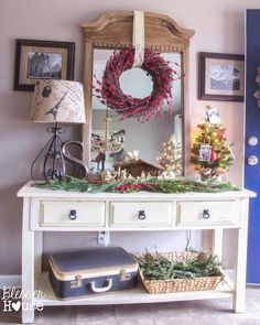 Bless'er House: Holiday Home Tour 2014: A Cozy Eclectic Christmas