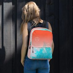This Women's Watercolor Backpack is unique. Ideal for daily use or sports activities! The pockets (including one for your laptop) give plenty of room for all your necessities, while the water-resistant material will protect them from the weather. Fashion Bags, Fashion Backpack, Sports Activities, Are You The One, Backpacks, Watercolor, Women's Bags, Laptop, Weather