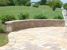 patio seating ideas | brick paver patio, custom firepit, retaining ... - Brick And Stone Patio Ideas