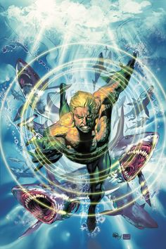 Aquaman by Ivan Reis. Agh! I love this. This is why aquaman is awesome