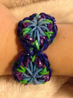 Kaleidoscope Rainbow Loom Bracelet