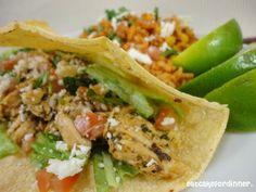 Chicken Tacos - America's Test Kitchen:  3 T butter, 1 clove garlic, 1 t chipotle chiles in adobo,  1/2 c. orange juice, 1/2 c. + 1/4 c. cilantro, mi...